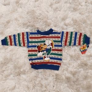 NWT Vintage Disney Mickey Mouse striped sweater